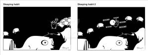 Sleeping habits by Dinuguan