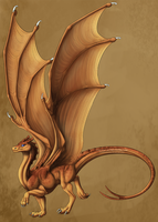 Pern Dragon Template: Commission by JadeRavenwing