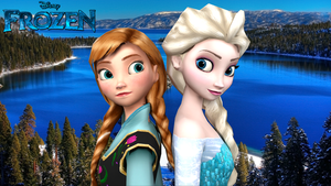 Elsa and Anna Back-to-Back by AlleyneTheElf