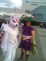Amaterasu and Issun Cosplay by Forest-shrine-wolf