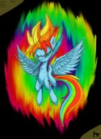 SSJ Rainbow Dash Colored by kevinjorg