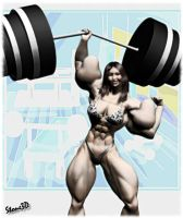 Super Strength Lin by Stone3D by vince3