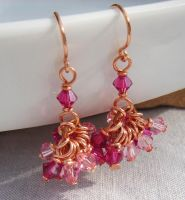 Raspberry Wine Earrings by BlushieSoap