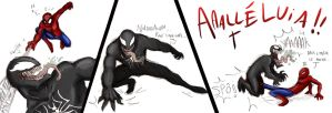 Spider VS Venom by FlyingRotten