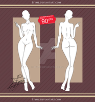 Clothes Model Front and Back Female (2). by Efyme