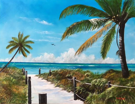 Art - #145516 - Beach Access - 26x34 by ldobson