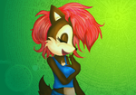 Sally Acorn Laughing by Birdhousebirdy