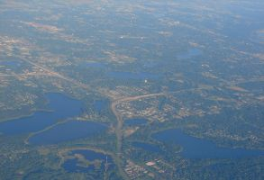 Aerial View of Minneapolis 3 by FantasyStock