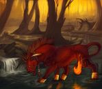 RedXIII-Commission- by Rogue-Lgr