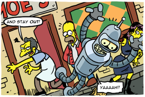 The Simpsons Futurama Crossover Crisis by theEyZmaster