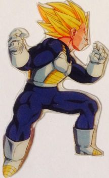 Clipping of a card: Vegeta by 19onepiece90