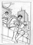 Superman 80 page giant rejected cover sketch by aaronlopresti