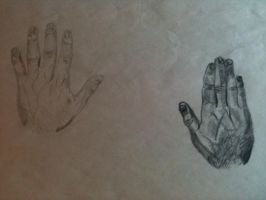 Mid-Term: Drawing Own Hands by dojopriest