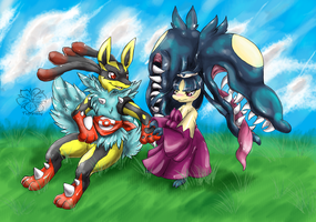 Runei and Lucina by tigersylveon