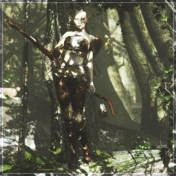 Wild Elf in a Forest by DesignsByEve