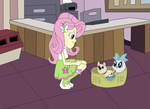 FlutterShy's Rescue Center Visit by equestriaguy637