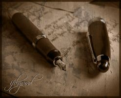 vintage pen old photo effect by ifilgood