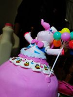 Pinkie Pie Gala Gown Cake by zamor438