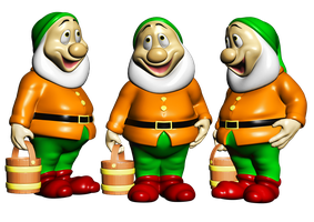 Happy Garden Gnome PNG Stock by Roys-Art
