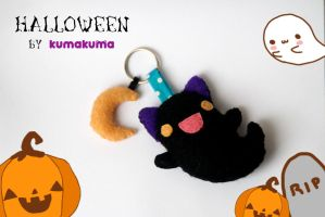 Halloween Cat Pattern by Kumakuma by kumakumashop