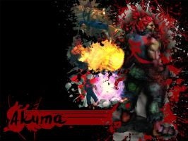 SFIV Splatter Akuma by Vegett0