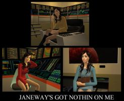 Me as Star Trek characters in Sims by WhiteButterflyFilms