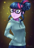 Twilight Sparkle of Crystal Prep by LieMint
