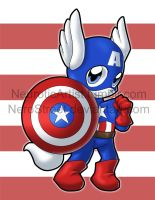 Captain America Kitty by NeroStreet