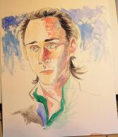 Watercolor Loki WIP by AmberPalette