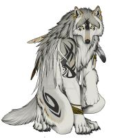 Tribal Wolf by Timber-Wolf-Spirit