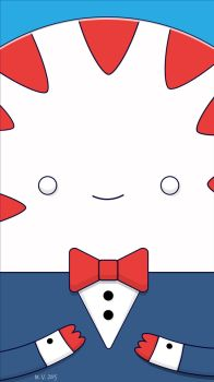 Peppermint Butler Vector Illustration by biscuitatus