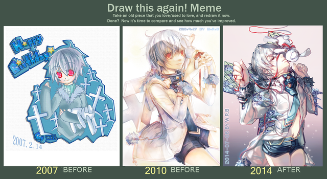 Draw This Again 2007-2014 by WhiteRiceBear