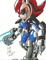 *SONIC OC*:  Weaponized Mecha Sally by Armpit-Warrior