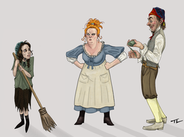 The Thenardiers and Cosette by tree27