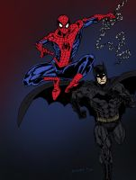 Batman and Spider-Man by edCOM02