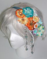Sunset Sea Flower Headband IV by smallrinilady