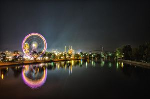 Volksfest - Wasen at Night by rayxearl