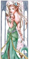 Elven maiden by lilie-morhiril
