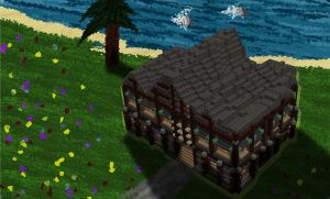Minecraft Stick Style House by skysworld