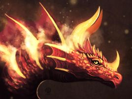 Fire dragon by Nimphradora