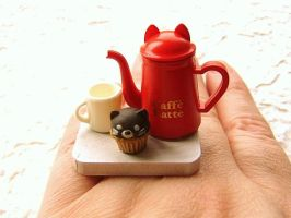 Coffee And Cupcake Ring by souzoucreations