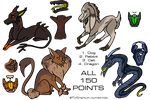 Adopts only 150 each! OPEN by TVCranium