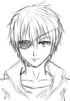 A boy with eyepatch by Rutogreen