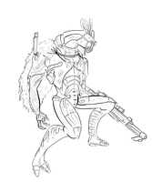 Apex lineart by Roselinath