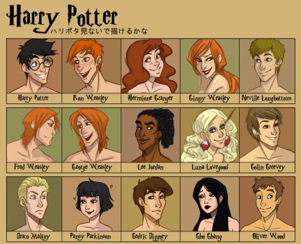 Harry Potter faces by uppuN