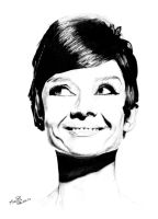 Audrey Hepburn by Mapos