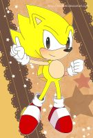 Sonic Postcard - Classic Super Sonic by destinal