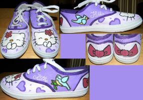 Hello Kitty Shoes by Rosemev