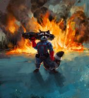 Rocket Raccoon by racoonwolf