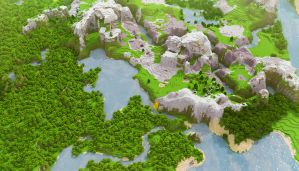 Minecraft: Landscape HD by cuberon